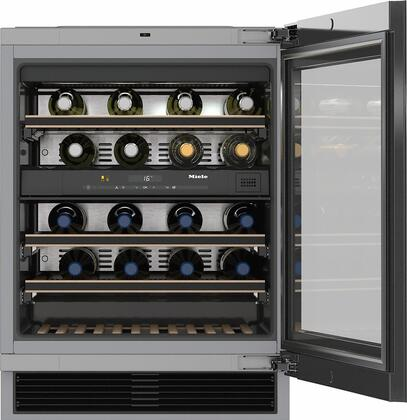 "KWT6322UG 24"" Undercoutner Wine Storage System with 34 Bottle Capacity  Low Vibration Compressor  Push2Open Door  UV-Resistant Safety Glass and Electronic"