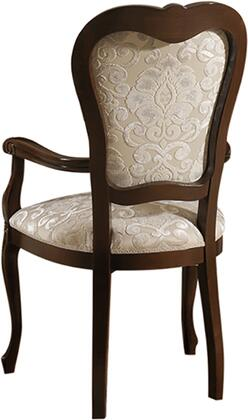 """DONATELLOARMCHAIR_22""""_Arm_Chair_with_Cabriole_Legs__Carved_Detailing_and_Fabric_Upholstery_in"""