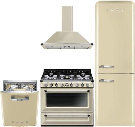 4-Piece Apartment Size Kitchen Appliance Package with