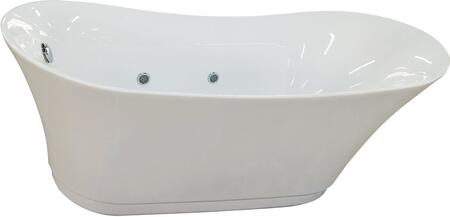 AM2140 6 Foot Free Standing Air Bubble Bathtub with Acrylic  Air Blower Motor and Multi Color LED Lights in