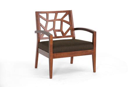 JENNIFER LOUNGE CHAIR-109/663-DARK BROWN Baxton Studio Jennifer Modern With Fabric Seat Lounge Chair  In Dark