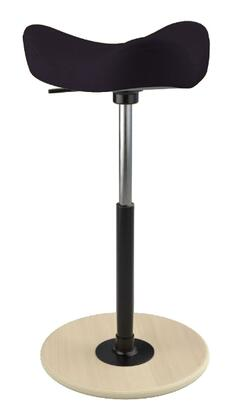 MOVE 2600 DINIMICA 9059 NAT HI BLK 26 inch  - 34 inch  Sit-Stand Chair with Dinimica Upholstery  9059 Color Code  Natural Ash Base  High Lift Height and Black Gas