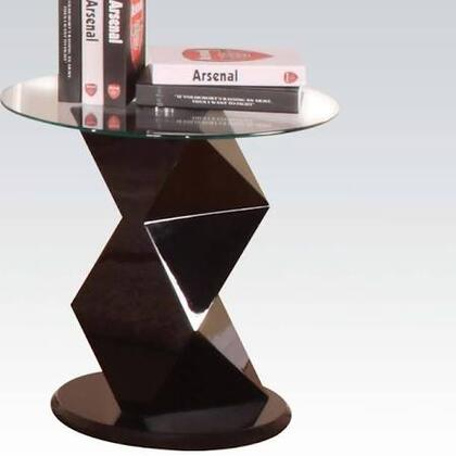 81368 Taksha End Table with Glass Top in