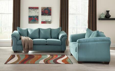 Darcy 75006SL 2-Piece Living Room Set with Sofa and Loveseat in