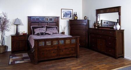 Santa Fe Collection 2322dcckbdmn 4-piece Bedroom Set With California King Bed  Dresser  Mirror And Nightstand In Dark Chocolate