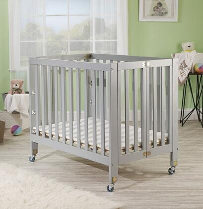 Roxy 1166G 40 inch  Three Level Portable Crib with New Zealand Pine Construction  Mattress Included  Super Smooth Rubber Wheels and CPSA Approved in
