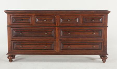 Sorrento Zwsr8012 80 Dresser With 8 Drawers  Floating Panels  Dovetail Joinery  Crown Molding And Solid Acacia Wood Construction In Brown