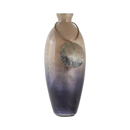 Vase Cuzco Collection 8468-076 18 inch  Vase/Urn with Glass Material in Fire Clay