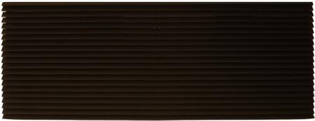 PGK01DB Exterior Louvered Polymer Blend Grille with Exterior Chemical and UV Protective Coating: Dark Bronze Baked