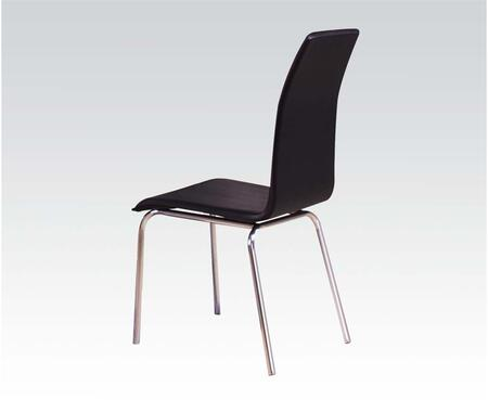 Elinor Collection 70712 18 inch  Side Chair with PU Leather Upholstered Seat and Back and Polished Metal Legs in Chrome