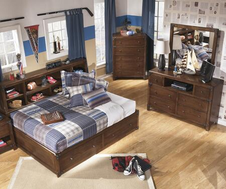 Delburne Full Bedroom Set With Storage Bed  Dresser And Mirror In Medium