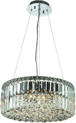 V2030D20C/RC 2030 Maxime Collection Chandelier D:20In H:7.5In Lt:12 Chrome Finish (Royal Cut