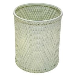 R426HG Chelsea Collection Decorator Color Round Wicker Wastebasket in Herbal