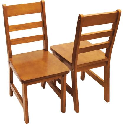 523/4P Set of Two Children's Chair in Pecan