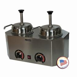 2029B 19.75 inch  Pro-Deluxe #10 Can Warmer-Dual Unit with Adjustable Thermostat and Stainless Steel