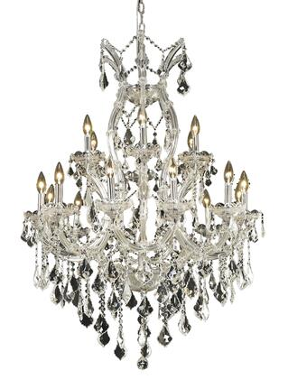 2800D32C/EC 2800 Maria Theresa Collection Hanging Fixture D32in H42in Lt: 18+1 Chrome Finish (Elegant Cut