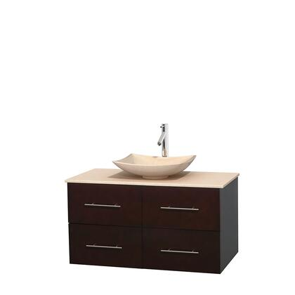 Wcvw00942sesivgs5mxx 42 In. Single Bathroom Vanity In Espresso  Ivory Marble Countertop  Arista Ivory Marble Sink  And No