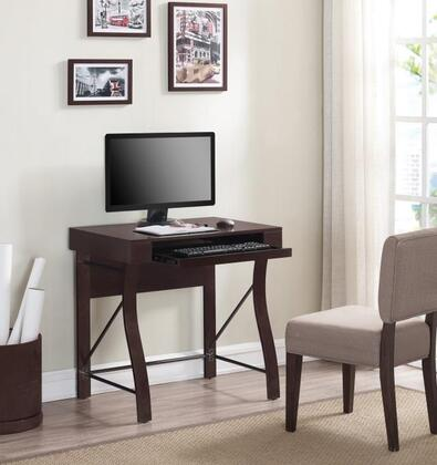 OD90012-31-Z474 31 inch  Desk with Easy Gliding Keyboard Tray and Bentwood Front Legs in Dark Expresso