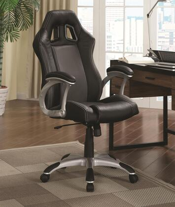 800046 Office Chairs Collection Office Task Chair with Air Ventilation On Chair Back  Leather-like Vinyl Upholstery and Swivel Base in