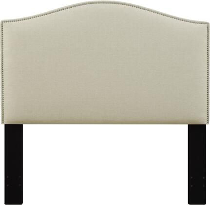 DS-D016-270-433 Fabric Upholstered Headboard For King Bed with   Nail Head Accents in