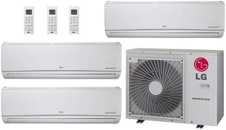 LMU30CHVPACKAGE50 Triple Zone Mini Split Air Conditioner System with 36000 BTU Cooling Capacity  3 Indoor Units  and Outdoor 706609