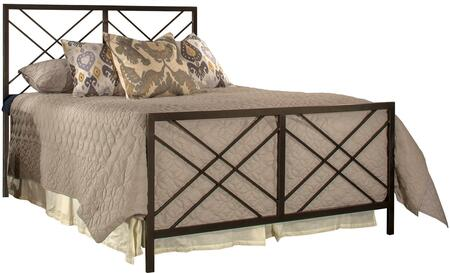 Westlake Collection 2166-500 Queen Size Headboard and Footboard Set with Open-Frame Panel Design and Sturdy Metal Construction in Magnesium