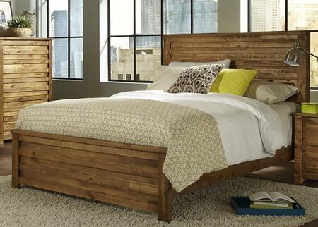 Melrose P604-34-35-78 Queen Sized Panel Bed with Headboard  Footboard and Side Rails in