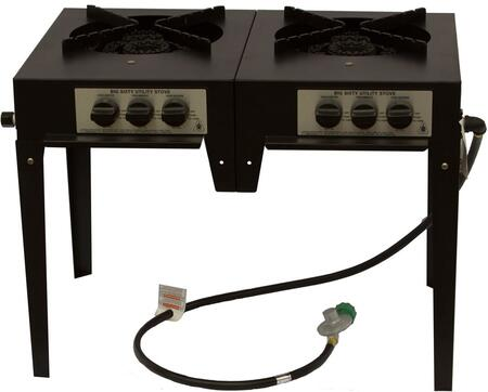 BIG60IIP 120 000 BTU 3 Ring Double Burner Utility Stove in: