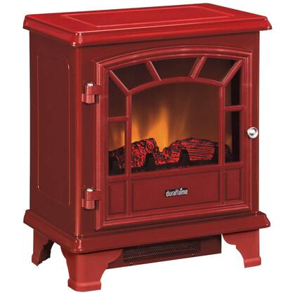 DFS55021RED 400 Sq. ft. Electric Stove with Metal Construction  Mechanical Controls  Realistic Flame Effect with Dimmer  Thermostat  4 600 BTUs per Hour  Fully