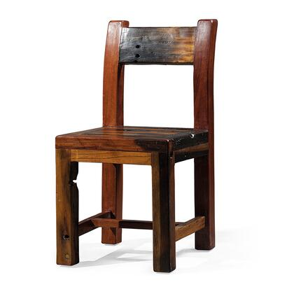 DS-A08 Spes Dining Chair with Geometric and Sharp 90 Degree Angles in Rustic