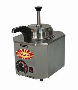 2027C 9.25 inch  Butter Pump Warmer Unit with Heated Pump and Stainless Steel