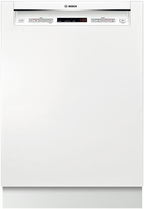 """Bosch 500 Series 24"""" Tall Tub Built-In Dishwasher with Stainless-Steel Tub White SHE65T52UC"""