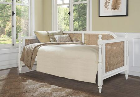 Melanie Collection 2167DB Twin Size Daybed with Cane Inset Panels  Decorative Finials and Sturdy Hardwood Construction in