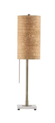 1010812 Lollipop Table Lamp Gold Cork in Weathered