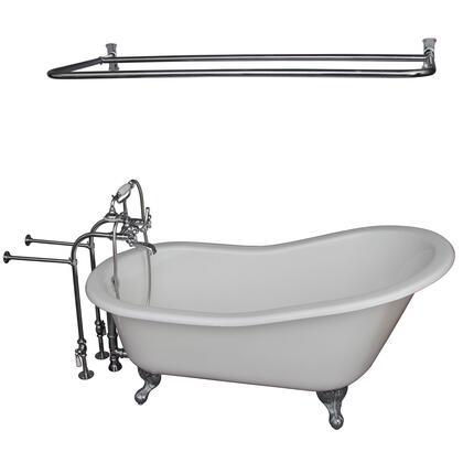 TKCTSN67-CP6 Tub Kit 67 CI Slipper  Shower Rd  Filler  Supplies