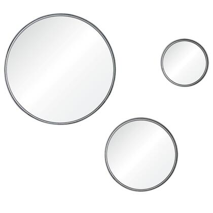 MT1631 11.8/7.9/5x11.8/7.9/5 Foxtrot Mirror with Metal Frame in