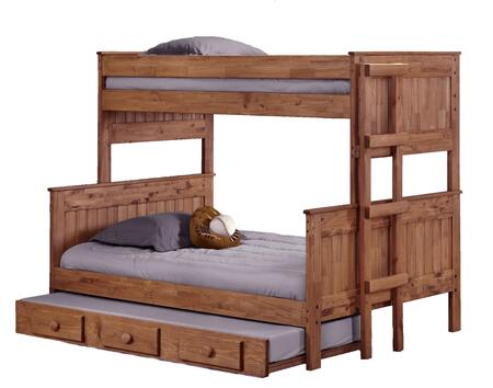 312009-450-T Twin Over Full Stackable Bunk Bed with Trundle Mahogany