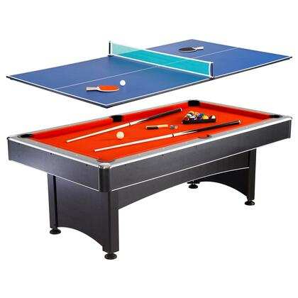 NG1023 7' Pool Table with Table Tennis Featuring an Easy Assembly and Includes Cues  Net  Post  2 Paddles  and Tennis