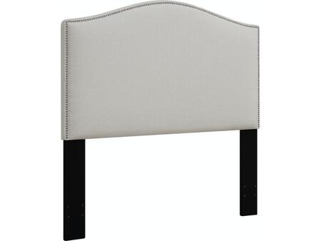DS-D016-270-432 Fabric Upholstered Headboard For King Bed with   Nail Head Accents in