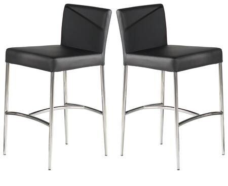 CILLA-CS CILLA Black PU/Stainless Steel Counter Height