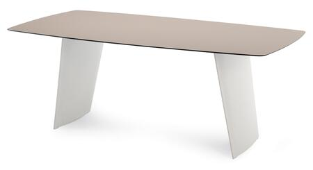 STONE.T.2011.PEBI.HT Stone-r Rectangular Table with Sand High Pressure Laminate Top and White Polyethylene