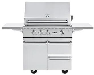 VGBQ53624N Professional 5 Series Outdoor Ultra-Premium Gas Grill with 25 000 BTU Stainless Steel Burners  15 000 BTU Infrared Rear Burner  Easy Lift Canopy 353848