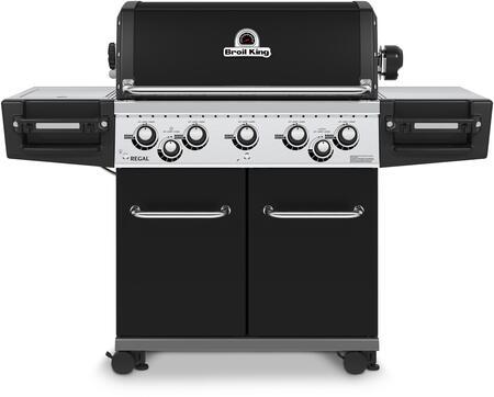 958244 REGAL 590 PRO Gas Grill with 5 Burners  55000 BTU Main Burner Output  625 sq. in. Cooking Area  10000 BTU Side Burner  and 15000 BTU Rotisserie Burner