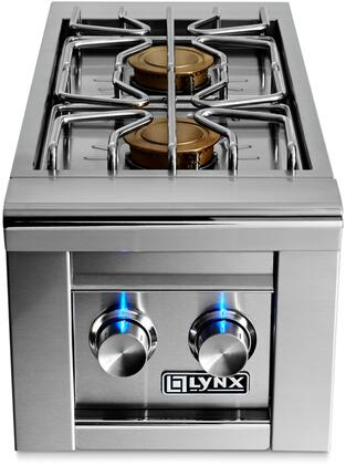 LSB22NG Natural Gas Double Side Burner Grill With Two 15 000 BTU Brass Burners  Hot Surface Ignition System & Stainless Steel