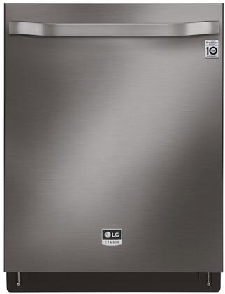 """LG 24"""" Top Control Built-In Dishwasher with Stainless Steel Tub Black stainless steel LSDT9908BD"""