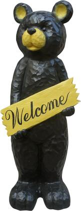 JFH816 47 Black Bear Holding Welcome Sign