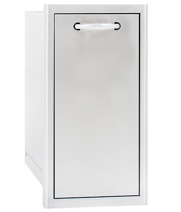 BLZ-TRNW-DRW Narrow Roll Out Trash Bin with Stainless Steel Construction  42 Quart. Trash Bin Included and Rounded Bevel
