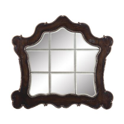 102509 Ornate Heritage Beveled Mirror  Heritage Grey Stain  Textured