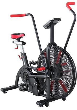 XM-5203 Chaimberg RXM Air Bike with Drive Belts  USB Port  4 Way Adjustable Seat Position and Programmable LCD Console in Black and