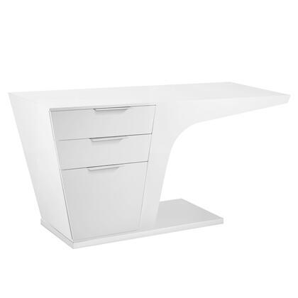 EEI-1188-WHI Warp Office Desk in White